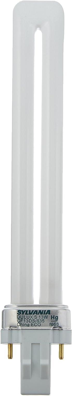 OSRAM SYLVANIA Dulux S Ecologic Pl Type Compact Lamp 82 CRI S 120 Volts-683365 13 Watt T4 3500K Gx23