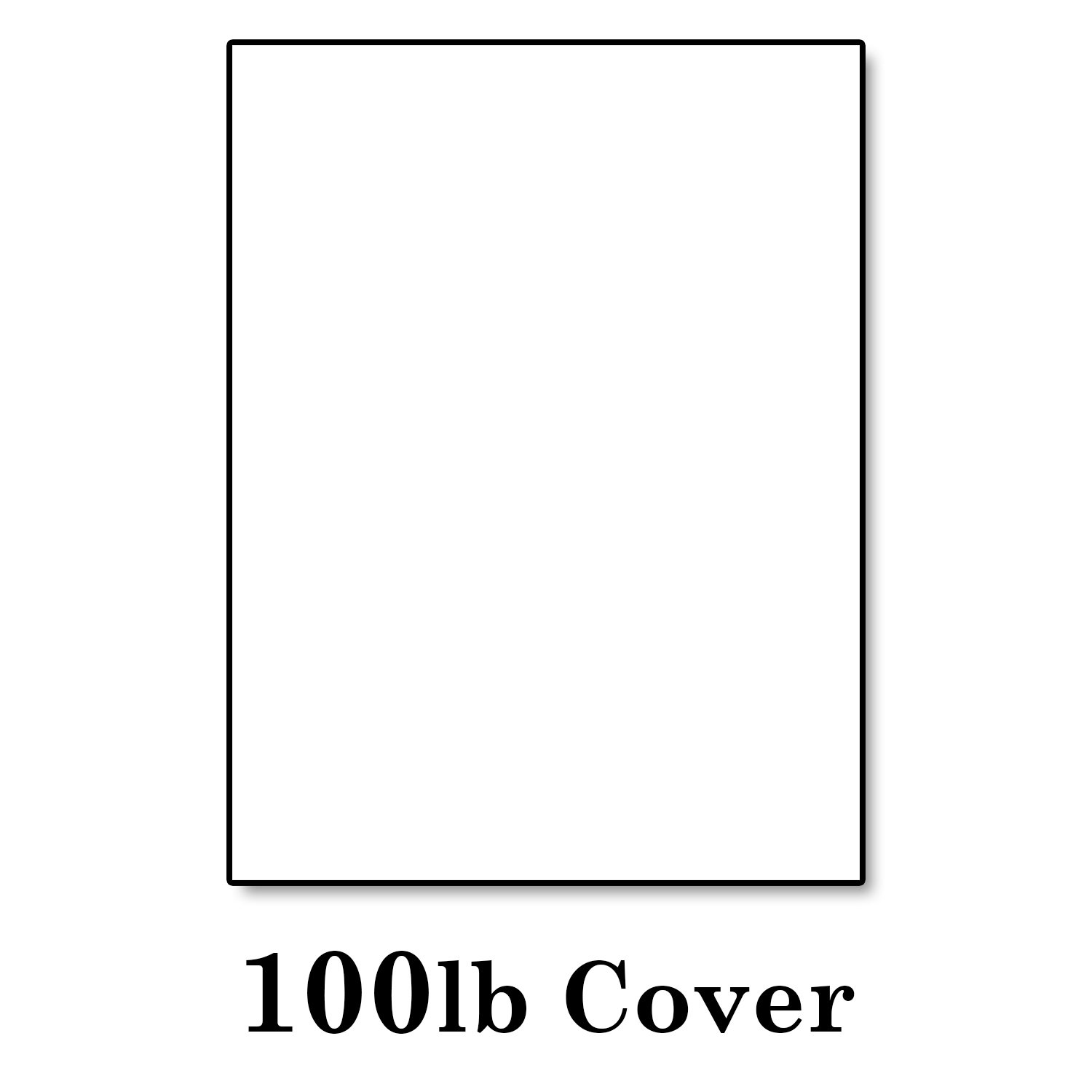 Hamilco White Cardstock Thick Paper - 8 x 10'' Blank Heavy Weight 100 lb Cover Card Stock - for Brochure Award and Stationery Printing - 50 Pack