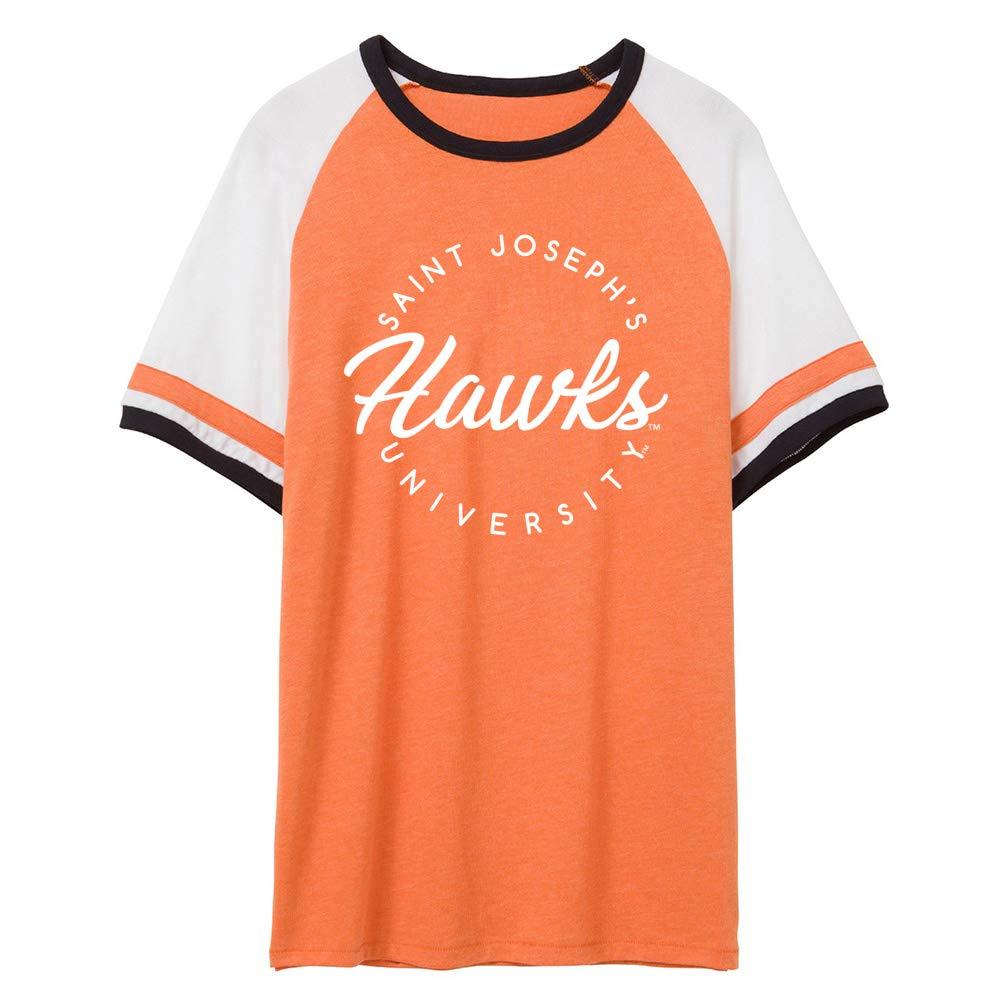 NCAA Saint Josephs Hawks RYLSJO04 Unisex Slapshot Vintage Jersey T-Shirt