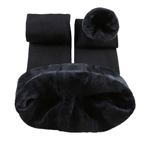 abe6a0bb83bc8 Romastory Winter Warm Women Velvet Elastic Leggings Pants (Black) one size  at Amazon Women's Clothing store: