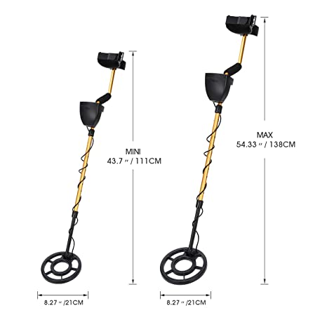 Nalanda 18 kHz Detectores de Metales con 5 modos de detección, Alta Sensibilidad Ajustable y Bobina de émbolo (Auriculares Incluídos): Amazon.es: Jardín