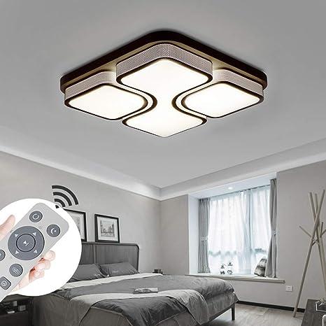 MYHOO 64W LED Regulable Luz de techo Diseño de moda moderna plafón,Lámpara de Bajo Consumo Techo para Dormitorio,Cocina,oficina,Lámpara de sala de ...
