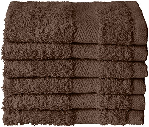 Northpoint Solid 6 Pack Zero Twist 13x13 Cotton Terry Washcloth, 13