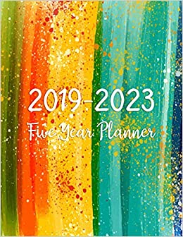 2019 2023 blue five year planner 60 months planner and calendarmonthly calendar