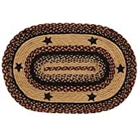 CWI Gifts BlackBerry Star Braided 20 inch 30 inch Oval Rug, Multicolored