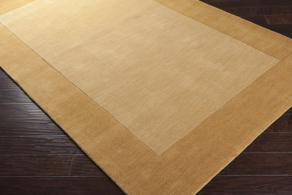 Surya Mystique M-345 Transitional Hand Loomed 100% Wool Dark Goldenrod 2'6'' x 8' Runner