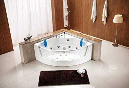 Indoor Computerized Hydrotherapy Jetted Massage Bathtub SPA HEAT   053A