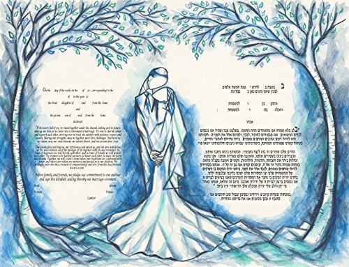 Mystical-Forest-Ketubah-Marriage-Contract-in-Blue
