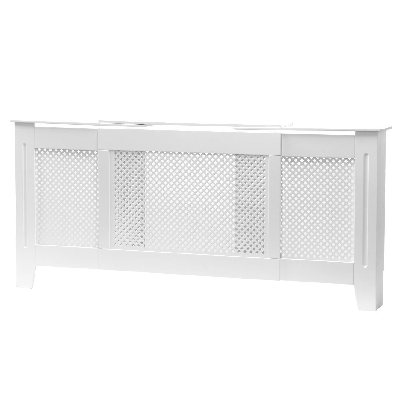 FOREST Radiator Cover Cabinet MDF WHITE Painted,Adjustable Size Diamond Grill ForestAV