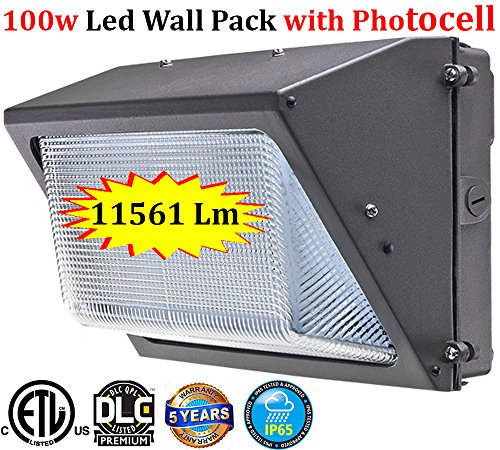 Led Wall Pack Light: Led 100w 13694 Lm 5000k Daylight Photocell Outdoor  Yard Garage Farmhouse