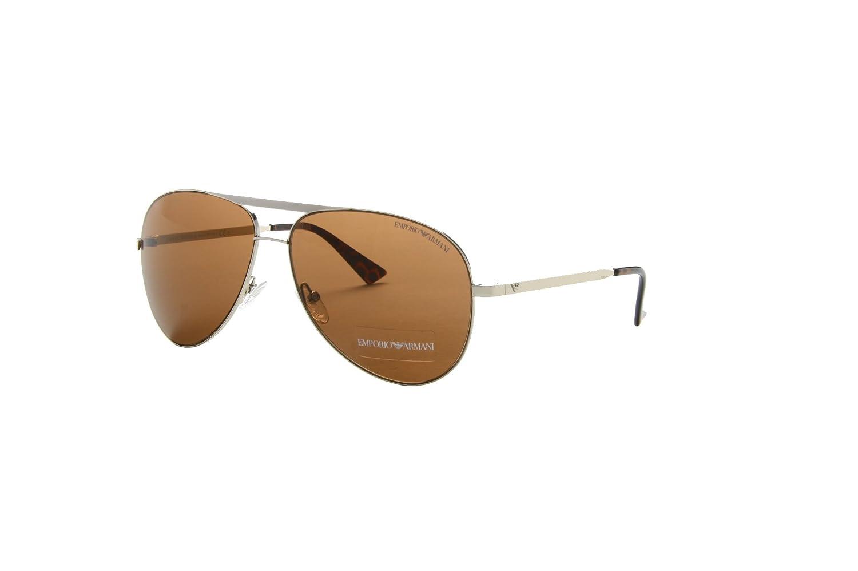 b185c8a9e0 New Emporio Armani EA 9740 S 3YG 8U Light Gold Men Women Metal Sunglasses  Emporio  Armani  Amazon.co.uk  Clothing