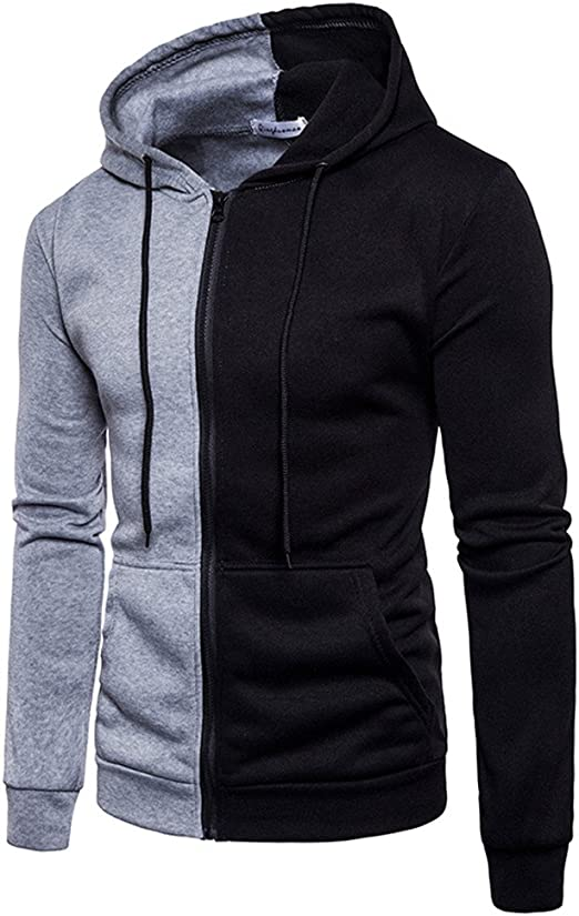 Fashion Men/'s Casual Slim Fit Sports Hoodies Outwear Coat Hooded Jacket Clothes