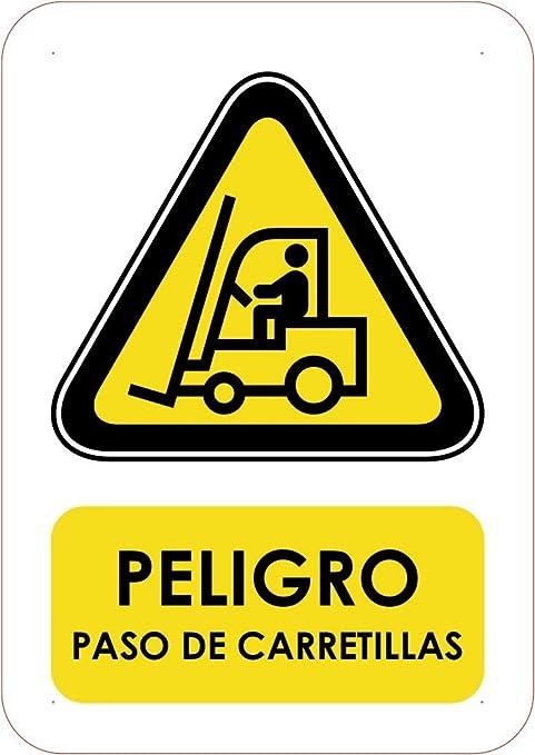 Oedim Señaletica Para Exteriores Peligro Paso de Carretillas Tamaño A5 (21x14,8cm) |