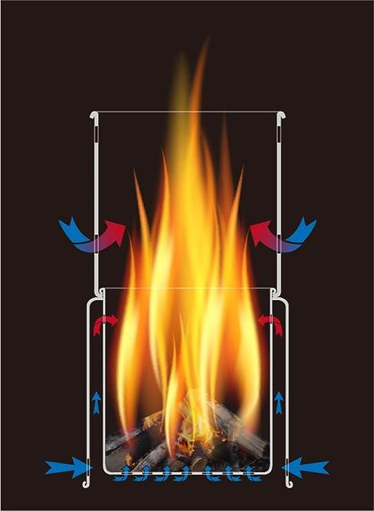 Hornillo de camping Toaks Titan para quemar madera, de ...