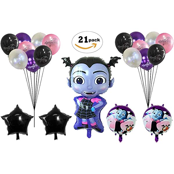 Amazon.com: Vampirina Balloon Bouquet 5 pc, 2nd Birthday ...
