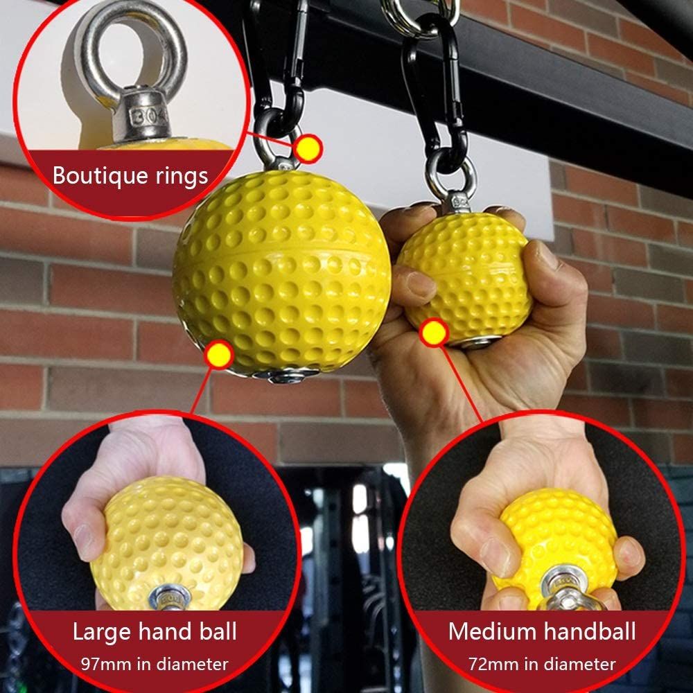 Kettlebell Moligh doll Pull-Up Power Ball Wrist Training Grip Ball Training Arm And Back Muscle Pull Force Reinforcing Ball Durable And Non-Slip Grip For Bouldering Pull-Up Fitness
