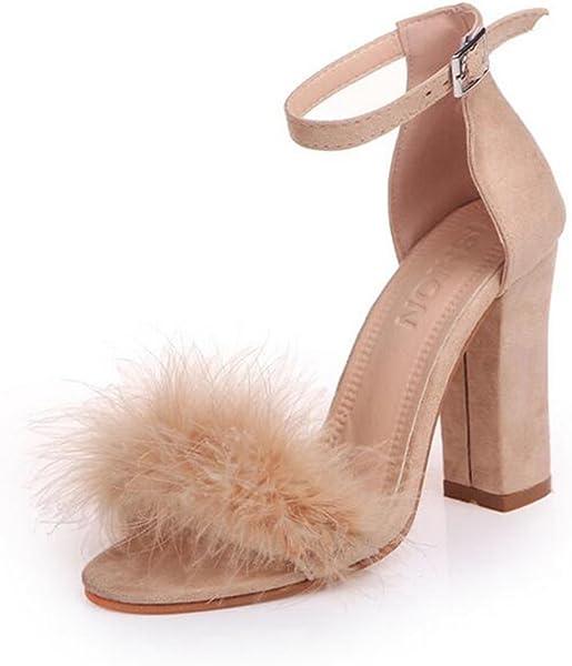 a72275cd335 COVOYYAR Women s High Chunky Block Heel Dress Sandals Ankle Strap Pump  (5.5