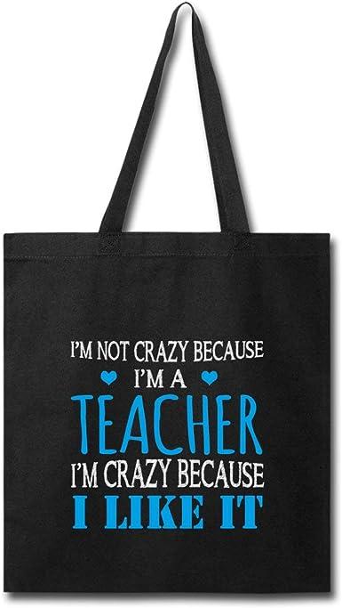 Crazy Teacher Funny Quote Tote Bag