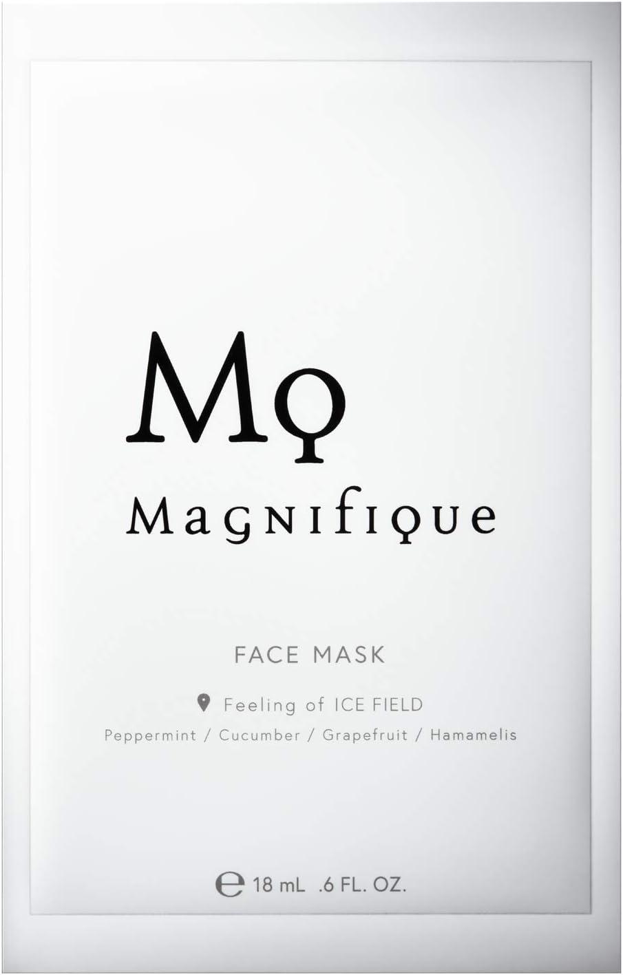 マニフィーク モイスチュア クーリング ローショ ンマスク(美容液マスク)5枚入