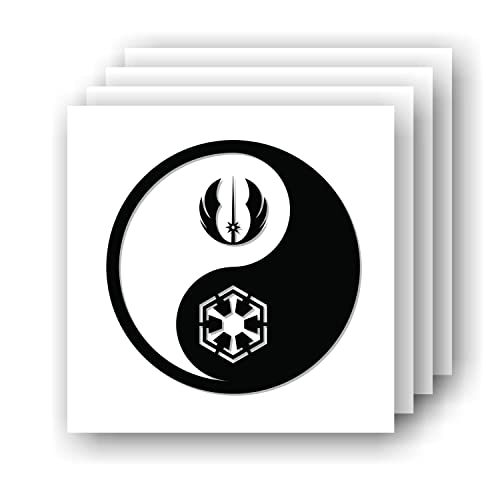 Yin Yang Skull 3 vinyl die cut sticker