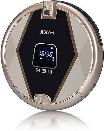 JISIWEI S+ Robot Aspirador Inteligente, con cámara HD de seguridad 1080p, Control Remoto por APP móvil (Android y iOS) , conexión Wifi, Color dorado: Amazon.es: Hogar