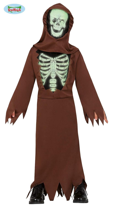 FIESTAS GUIRCA Disfraz de túnica Esqueleto Fluorescente para niño ...