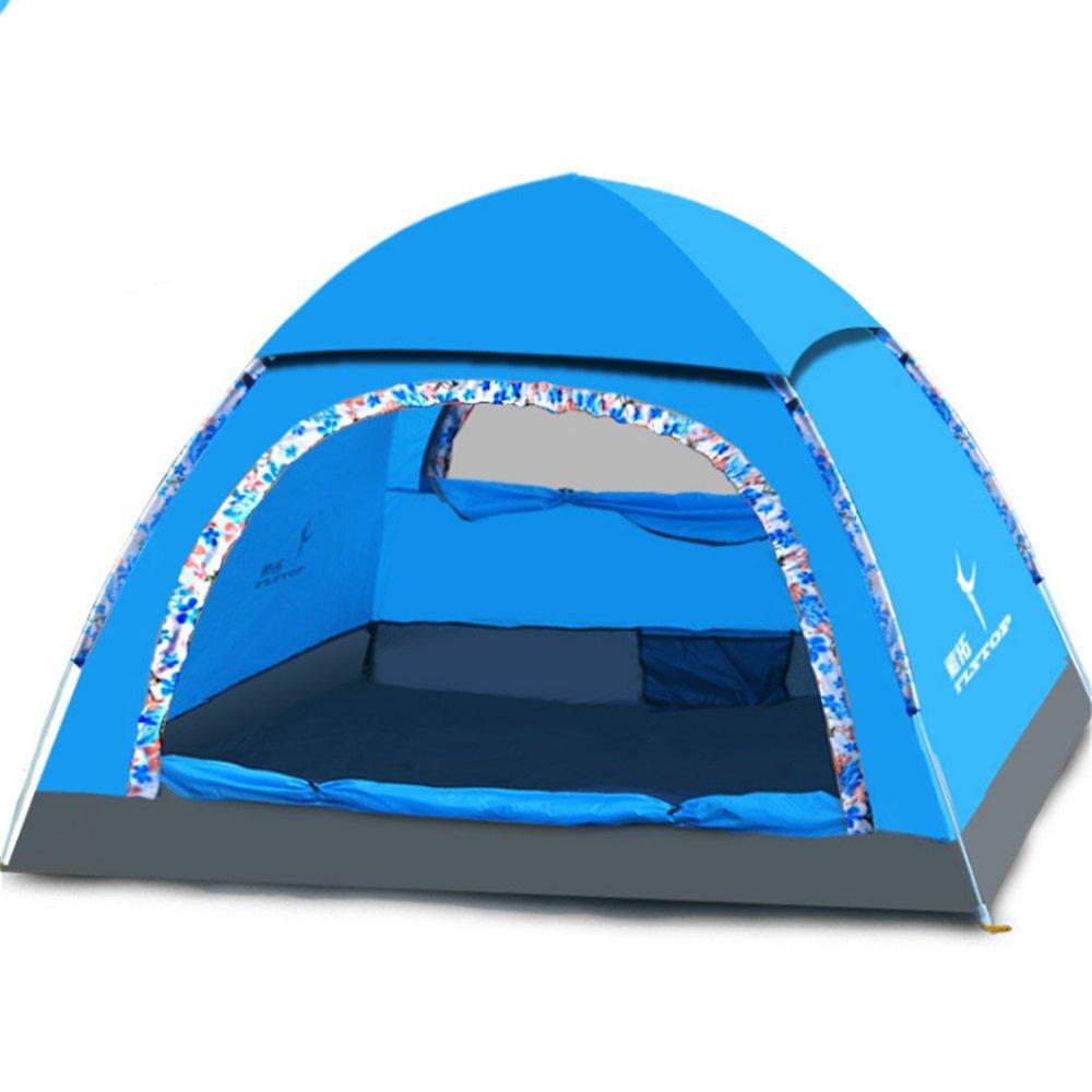 テント3-4人の野外キャンプキャンプテントフルオートオープン雨と日焼け止め畑のテントを防ぐ   B07C1JNJX3