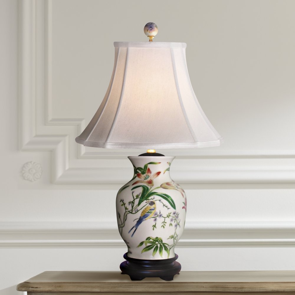 Tulip vase porcelain table lamp asian table lamp amazon aloadofball Image collections