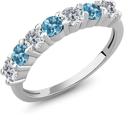 Promise Ring, Wedding Ring 925 Sterling Silver Ring Topaz Ring Swiss Blue Topaz Ring Engagement Ring Custom Ring Anniversary Ring