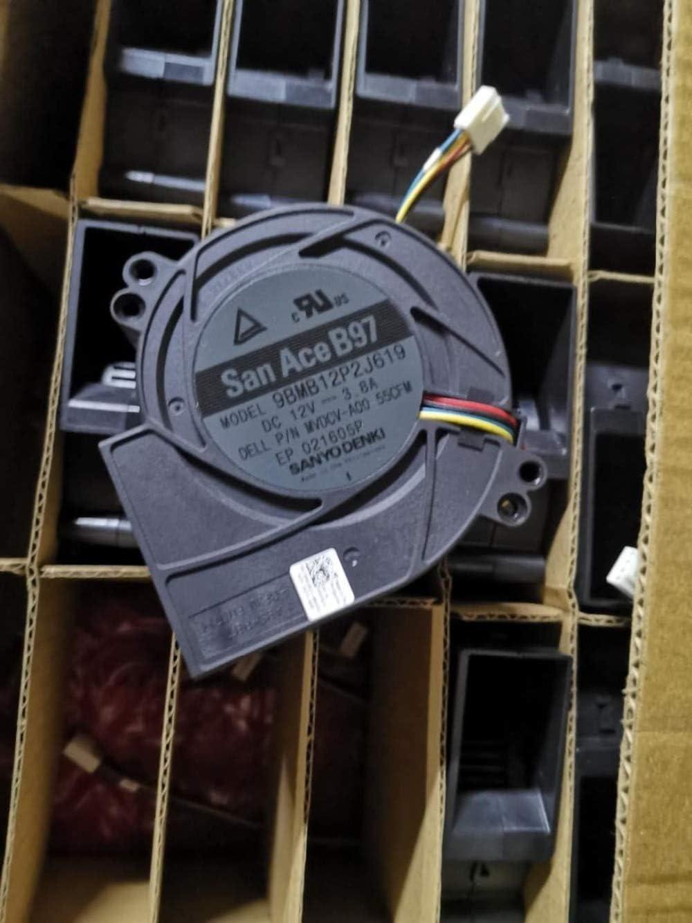 New Original fan for SANYO San Ace B97 9BMB12P2J619 DC12V 3.8A MVDCV-A00 55CFM 9733MM Computer cooling fan Blower