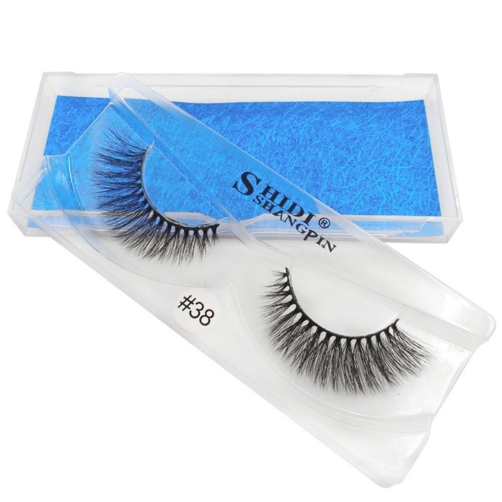7454ec1b669 Amazon.com : SUNSENT 1Pcs 3D Mink False Eye Lashes Reusable Handmade False  Eyelashes Set For Natural Look : Beauty