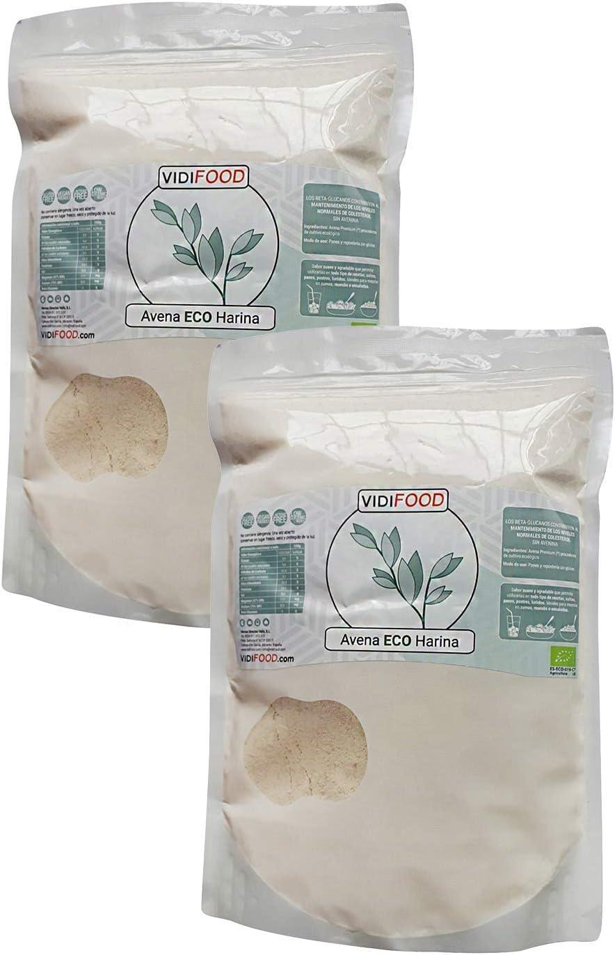 VidiFood Harina de Avena ECO - 2 kg: Amazon.es: Alimentación y bebidas
