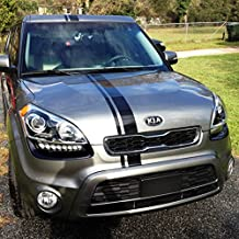 1x Full Stripe Kit Decal Sticker Graphic Compatible with Kia Soul 1st 2nd Gen Models