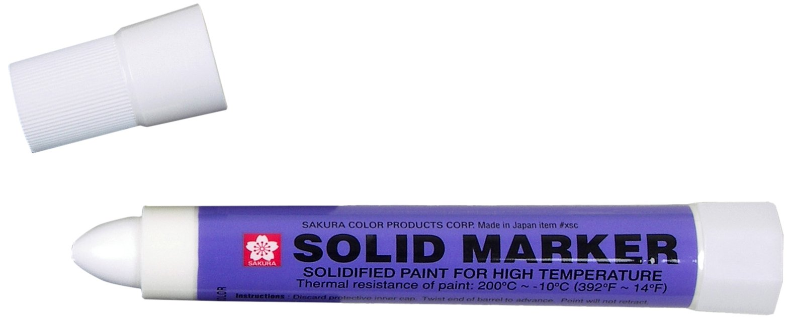Sakura Solidified Paint Solid Marker, White (Box of 12) by SAKURA