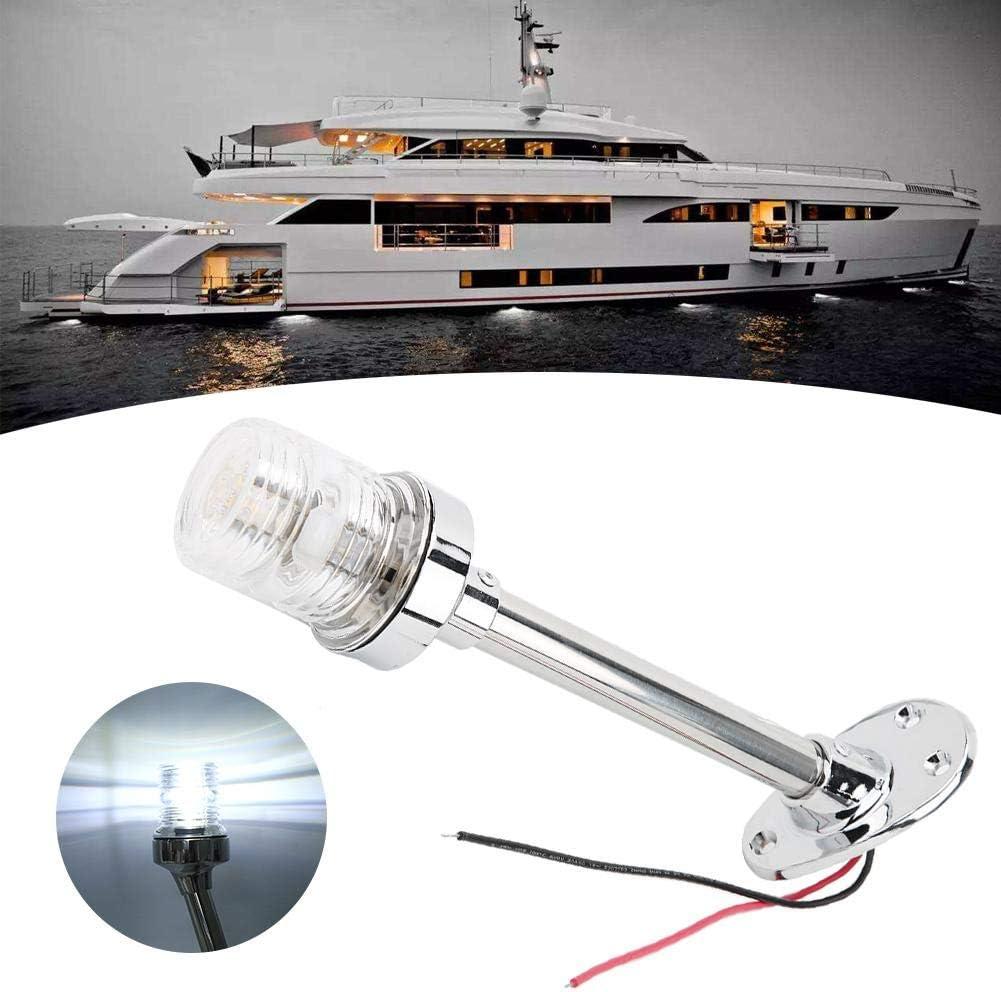 feu de mouillage feu de yacht Feu de navigation feu de navigation /à LED 12-24 V 2,5 W 10 pouces pour lampe de signalisation de navigation /à t/ête droite pour yacht