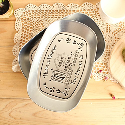 Amazon.com: Eaglood 1Piece Bandeja Silver Vintage Iron Plate Storage Tray Fruit Plate Three-Dimensional Tin Plate Small Tray Candy/Snack/Fruit Tray A ...