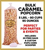 pops corn - Gourmet Pops Corn BULK/WHOLESALE CARAMEL POPCORN- 5 LBS-80 CUPS-95 OZ- FREE SCOOPER!!