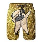 HYEECR Dabbing Pug 2018 New Style Summer Casual Beach Shorts Pants for Men Boys