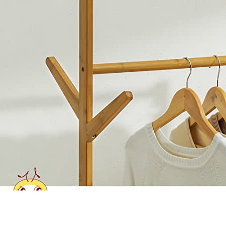 Amazon.com: Solid wood coat rack,Floor drying rack simple clothes pole indoor drying rack bedroom hanger clothes rack-A: Home & Kitchen