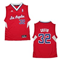 YOUTH NBA Los Angeles Clippers Griffin #32 Pro Quality Athletic Jersey Top - Red