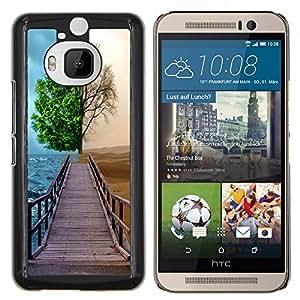 """Be-Star Único Patrón Plástico Duro Fundas Cover Cubre Hard Case Cover Para HTC One M9+ / M9 Plus (Not M9) ( Diferente Árbol Temporada"""" )"""