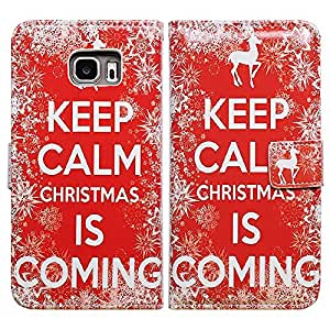 Bcov Christmas is Coming Leather Wallet Cover Case For Samsung Galaxy Note 5