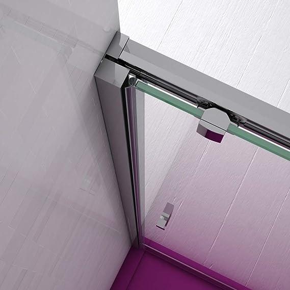 Mampara de Ducha FRONTAL - EstiloBaño® BOSTON - 1 Fijo y 1 Puerta Corredera - TRANSPARENTE - Cristal de Seguridad 6 mm -ANCHO 138 cm (medida adaptable 138 a 141 cm): Amazon.es: Bricolaje y herramientas