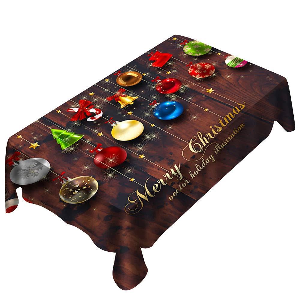 Respctful✿Rectangular Christmas Tablecloth Merry Christmas Cotton Tablecloth Gold Dot Confetti Rectangular Table Covers by Respctful Home& kitchen