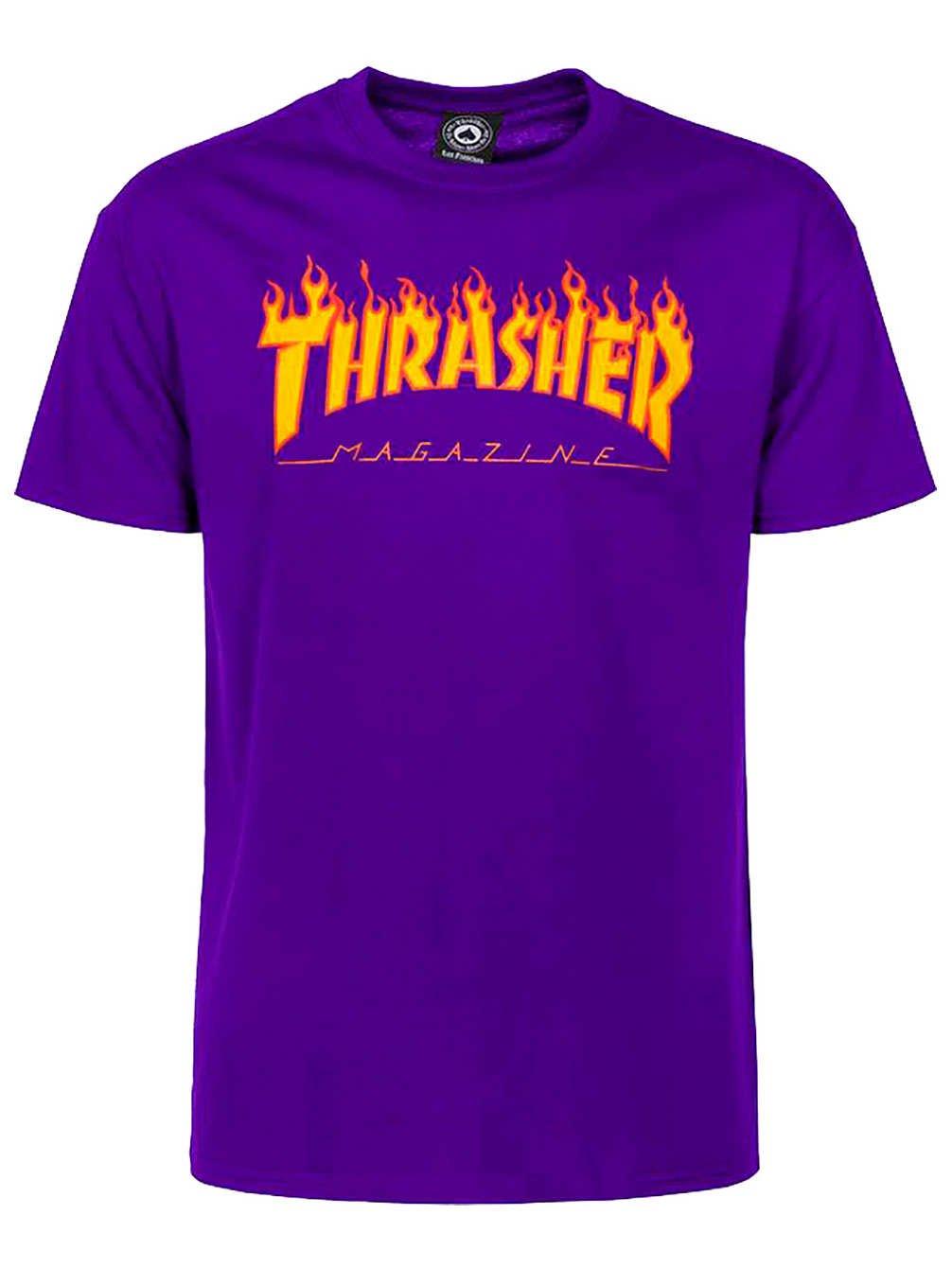 8d709c1df52d THRASHER FLAME SS TSHIRT XL-PURPLE - FLAM-PUR   Shirts   Tees ...