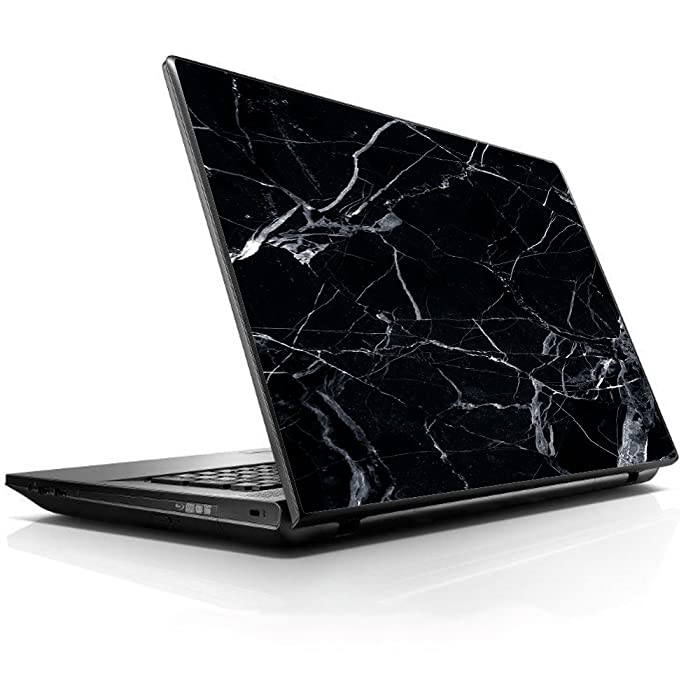 "15 15.6 inch Laptop Notebook Skin Vinyl Sticker Cover Decal Fits 13.3"" 14"" 15.6"" 16"" HP Lenovo Apple Mac Dell Compaq Asus Acer/Black Marble Granite White"