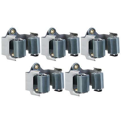 Nuolux - Soportes para escoba, 5 unidades, perfectos para la pared o la estanterí