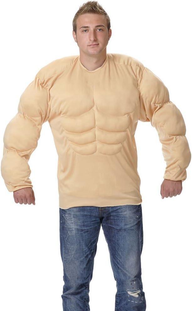 Disfraz camiseta músculos. Talla 50/52.: Amazon.es: Juguetes y juegos