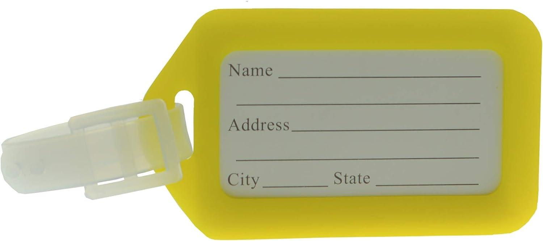 Farbe: Blau 2er Set Kofferanh/änger Adressschild Namensschilder Gep/äckanh/änger
