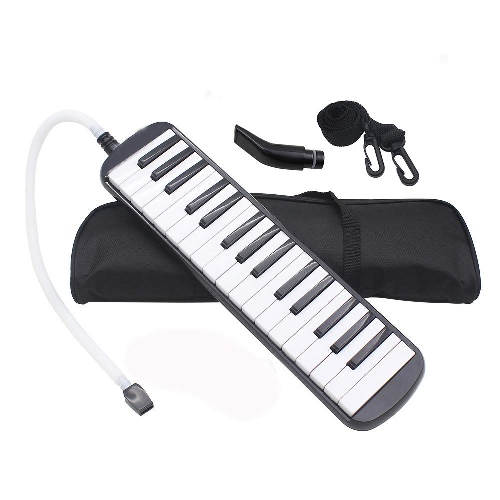 Whryspa Melodica 32 Piano Key, Easy to Control, Suitable for Teaching, Performance, Piano Enlightenment,Black